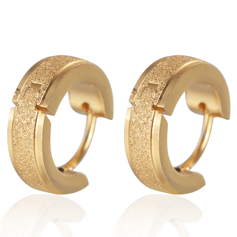 Fashion Gold Silver Stainless Steel Stud Earrings For Women Men Punk 2019 Wedding Party Jewelry Wholesale
