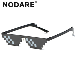 Trick Toy Thug Life очки с ним солнцезащитные очки пиксельные женские мужские черные мозаичные солнцезащитные очки