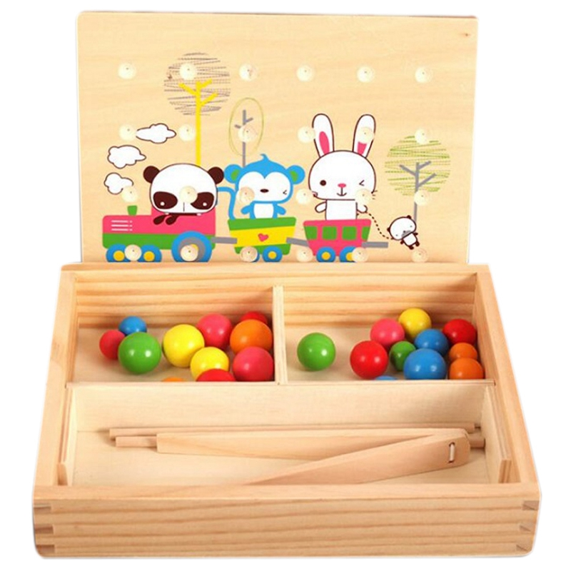 Children'S Early Education Puzzle Hand-Eye Coordination Math Clip Beads Teaching Aids Clip Thinking Training Toys