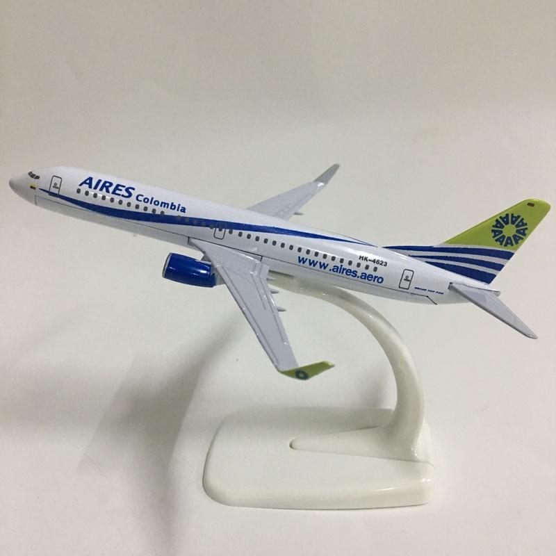JASON TUTU 16cm Aires Colombia Boeing 737-800 Plane Model Airplane Model Aeromexico Aircraft Model 1:400 Diecast Metal Planes