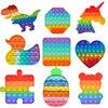 Rainbow Popits Hot Push Bubble Fidget Toys Adult Stress Relief Toy Antistress Soft Squishy Anti-stress Gift Anti Stress Box