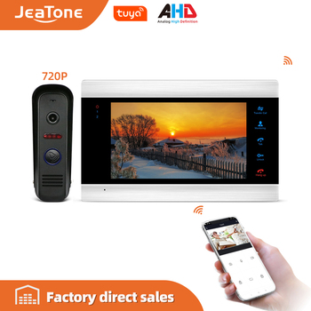 720P/AHD 7'' WiFi Smart Video Door Phone Intercom System with AHD Doorbell Camera Free App Remote Unlock Access Control System цена 2017