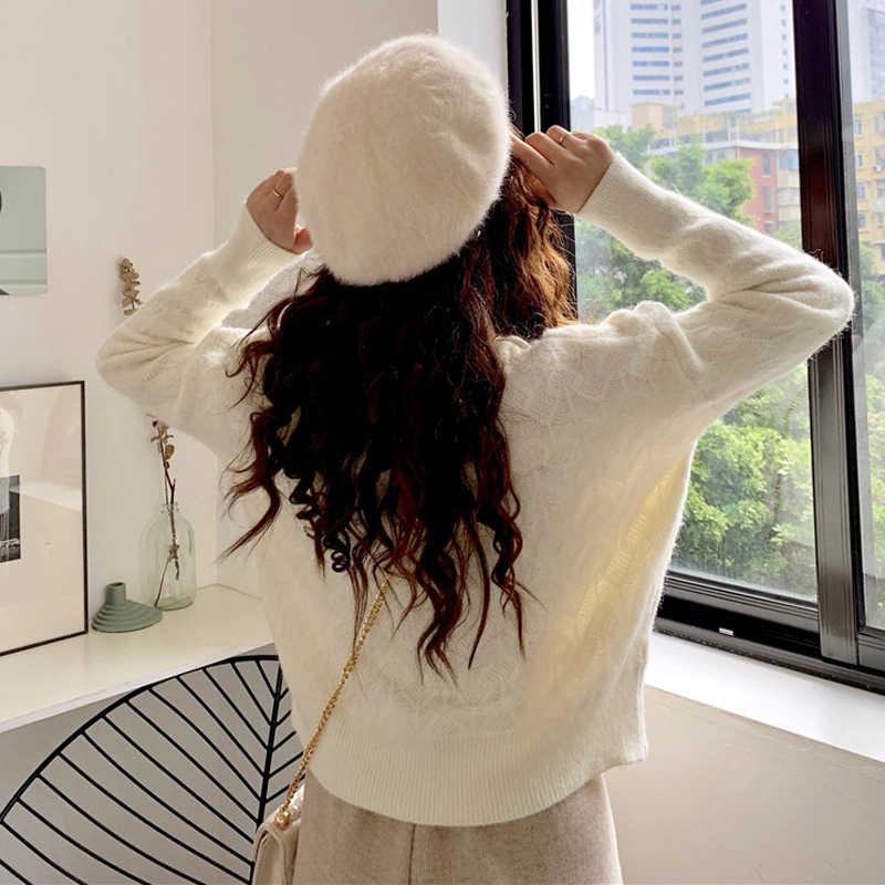 Tempérament doux cerise col rond femmes pulls chandails en vrac à l'extérieur porter chandail 2019 mignon cerise femmes chandails