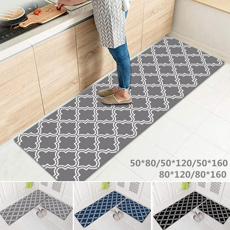 Long Kitchen Carpet Non-slip Mat Comfort Floor Mats-Perfect For Kitchen Bathroom And Standing Desks Carpets Washable Door Mat