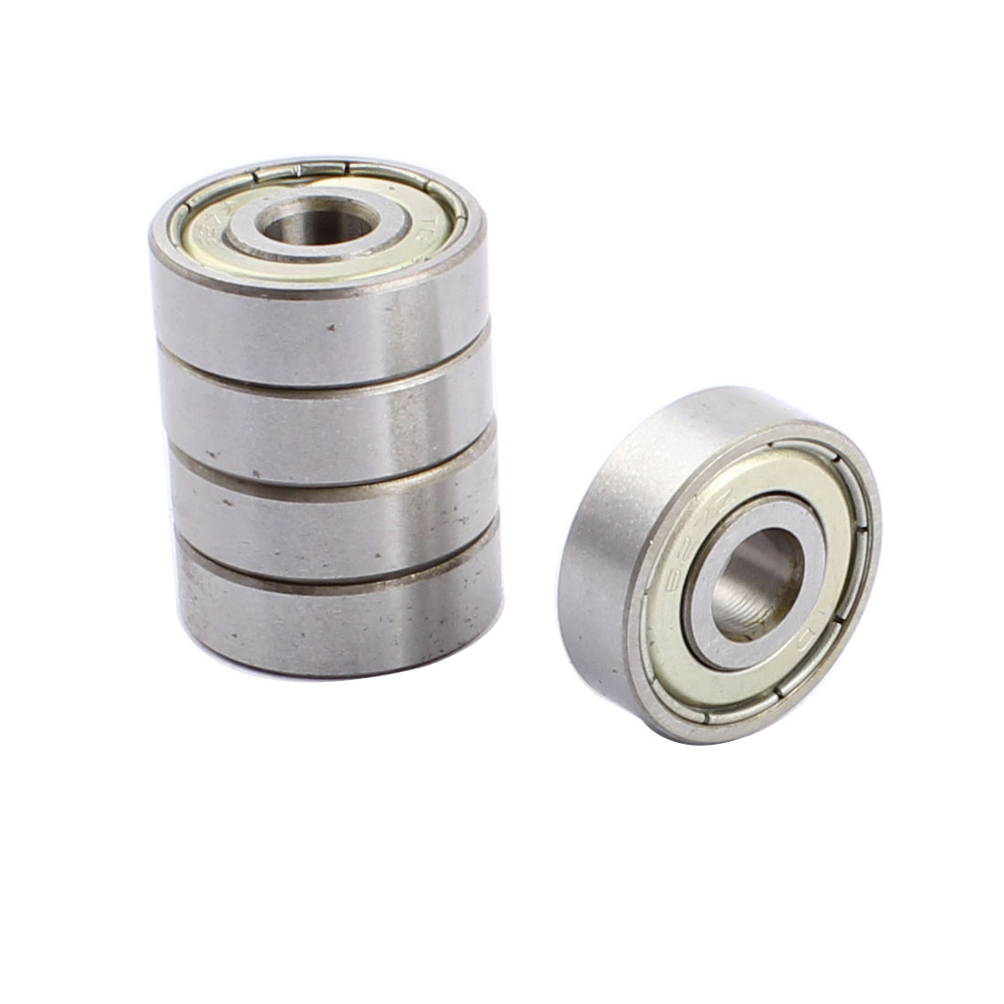 uxcell 22mm x 7mm x 7mm Double Shielded <font><b>627Z</b></font> Metal Deep Groove Guide Pulley Rail Ball Wheel <font><b>Bearings</b></font> 5pcs image