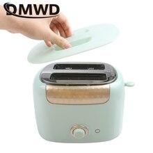 DMWD мини многофункциональный автоматический тостер быстрый нагрев бытовой 2 ломтика хлеб тост Сэндвич Машина для завтрака нержавеющая сталь