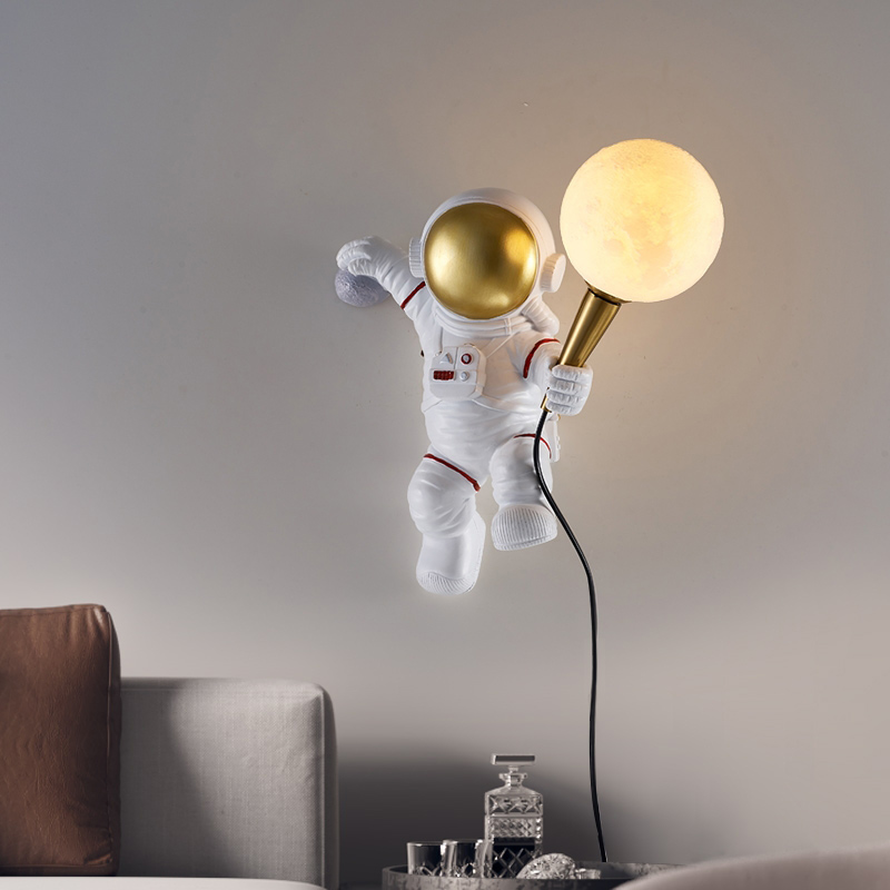 3D Printed Creative Astronaut Figure Wall Lamp Indoor Wall Lamps Night Lamps
