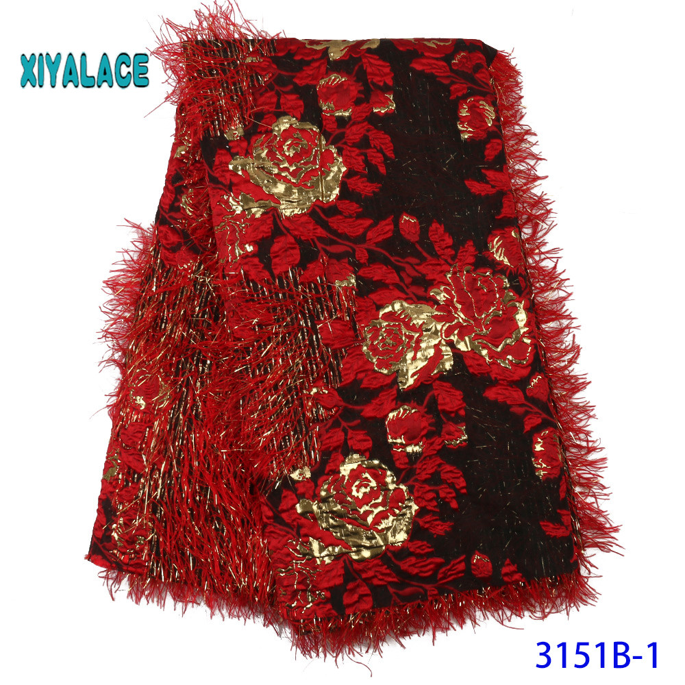 African Lace Fabric 2019 High Quality Embroidered Brocade Lace French Tulle Lace Fabric For Nigeria Party Dress YA3151B-1