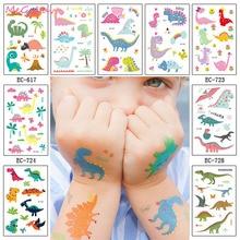 Tattoo-Stickers Party-Supplies Dinosaur Temporary Birthday-Party Waterproof Children