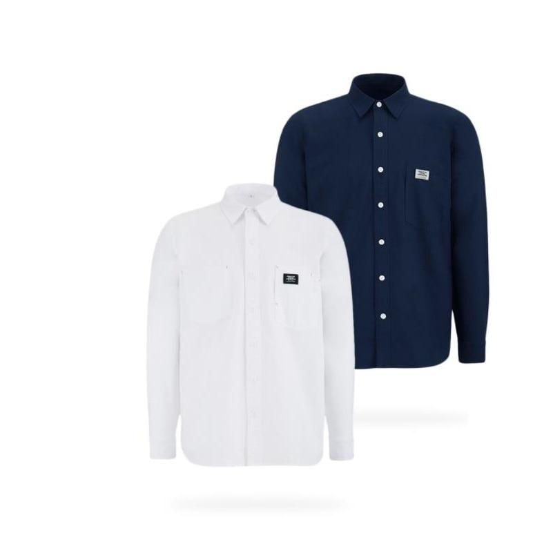 새로운 미타운 라이프 맨 퓨어 코튼 패션 슬림 셔츠 피부 친화적 인 느슨한 편안한 남성 긴 소매-에서의복커버부터 홈 & 가든 의  그룹 1