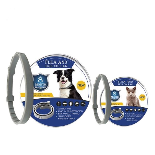 8 mês pulga colar de carrapato para cães gatos coleira de cão ajustável para cães pequenos acessórios para animais de estimação produtos bonitos 1