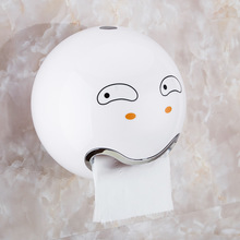 Creative Carton  Suction Cup Toilet Towel Rose Gold Paper Holder Shelf