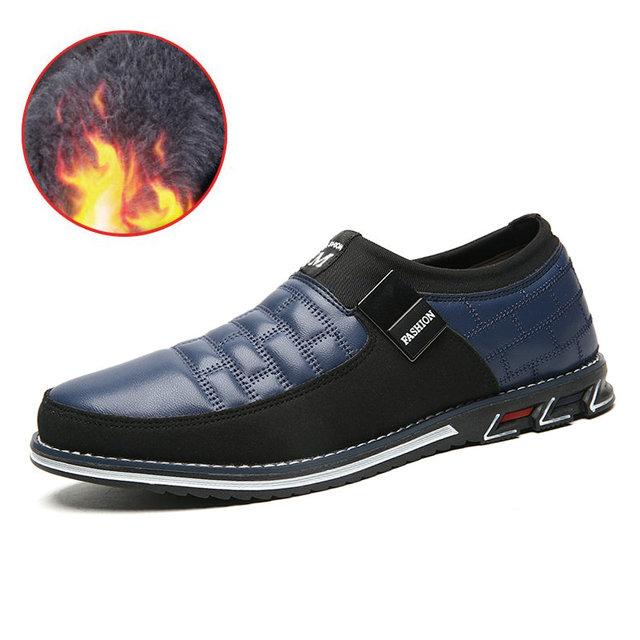 2019 New Big Size 38-48 Oxfords Leather Men Shoes Fashion Casual Slip On Formal Business Wedding Dress Shoes Drop Shipping 1