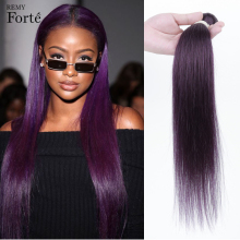 Hair-Weave Bundles Straight-Hair Remy-Forte Purple Wholesale Brazilian Violet