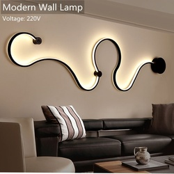 Modern Wall Lamps for bedroom study living balcony room Acrylic home decor in White black iron body sconce LED lights Fixtures