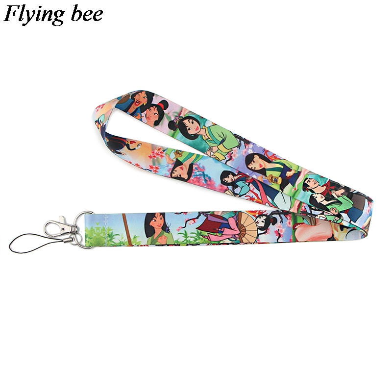Flyingbee Women Fashion Keychain Cartoon Phone Lanyard Creative Strap Neck Lanyards For ID Card Phone Keys X0843