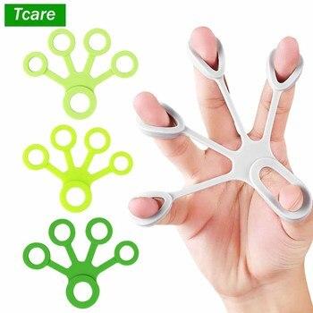 Tcare Silicone Five Finger Exerciser Finger Puller Hand Grip Strengthener Finger Trainer Extensor Fitness Equipment Forearm Tool 1