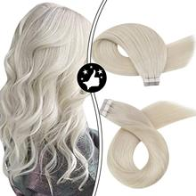 Human-Hair Extensions Seamless-Machine Pu-Tape Remy Natural Invisible Real Brazilian