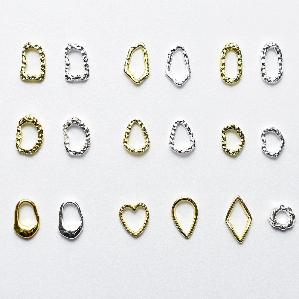 Купить 50 шт/лот золотистые/серебристые полые 3d рамки в форме сердца