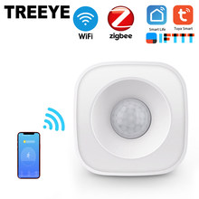 TREEYE WiFi sensore del corpo umano movimento del corpo intelligente Wireless sensore di movimento PIR uso Zigbee con Gateway Tuya Smart Life App