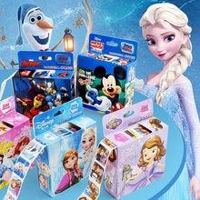 200Pcs/Box Disney Frozen Cartoon Stickers Princess Mickey Sofia Removable Sticker Girl Kids Children Teacher Reward Toys Gift