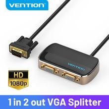 Mukavele VGA anahtarı VGA 1 2 out Splitter 1X2 1080P Switcher VGA projektör monitörü için PC VGA kablosu erkek kadın anahtarı VGA