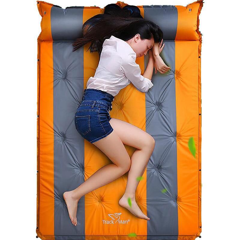 2016 192*132 cm satılık yepyeni Trackman 2 kişi PVC otomatik şişme yatak yastık açık kamp mat nem ped