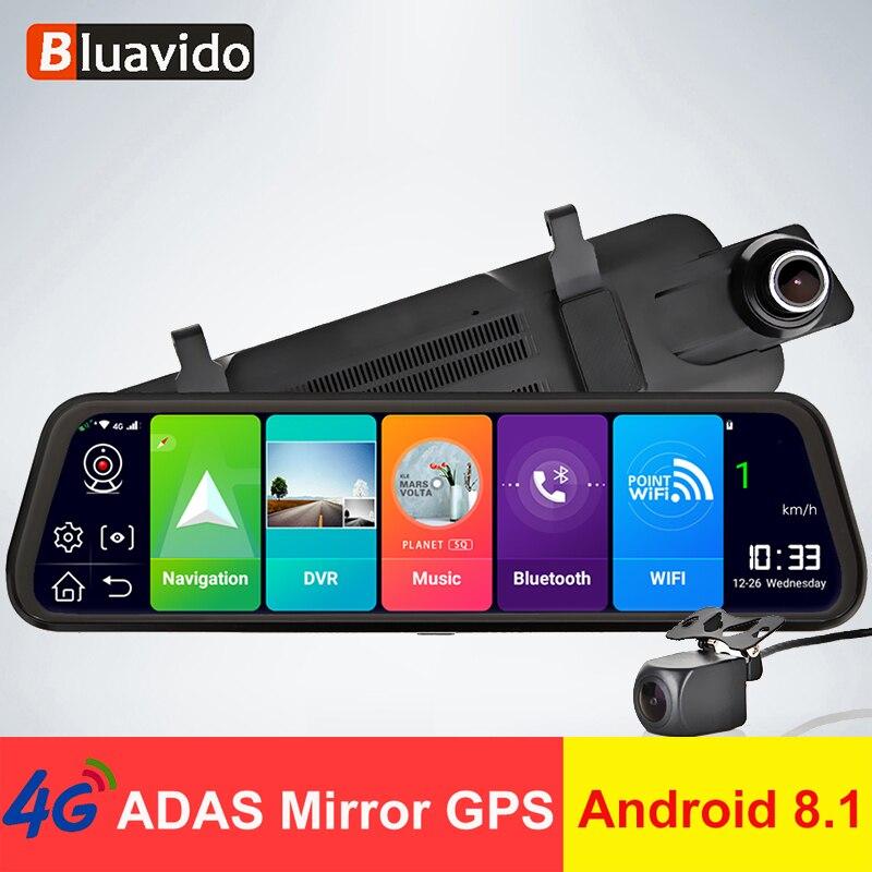 Bluavido Recorder Car-Rearview-Mirror Navigation Dash-Cam Dvr-Remote-View ADAS Android-8.1