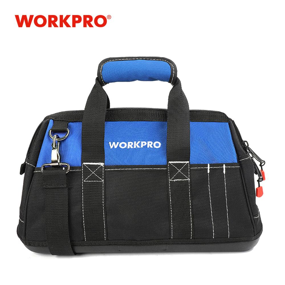 WORKPRO 2018 New Tool Bags Waterproof Travel Bags Men Crossbody Bag Tool Storage Bags With Waterproof Base Free Shipping