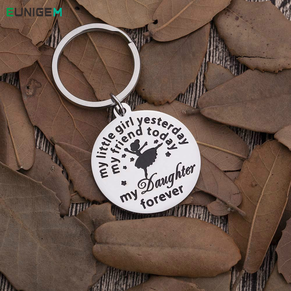 Fashion Keychain Gifts for Daughter From Mom Dad To Adult Daughter Sweet <font><b>16</b></font> Gifts for Women <font><b>Teens</b></font> <font><b>Girls</b></font> Graduation Presents image