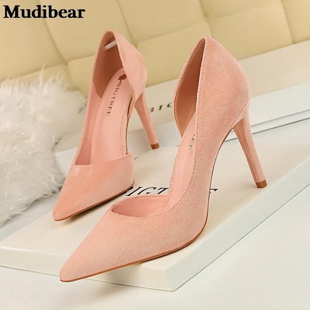 Фото туфли mudibear женские на высоком каблуке модные туфли лодочки
