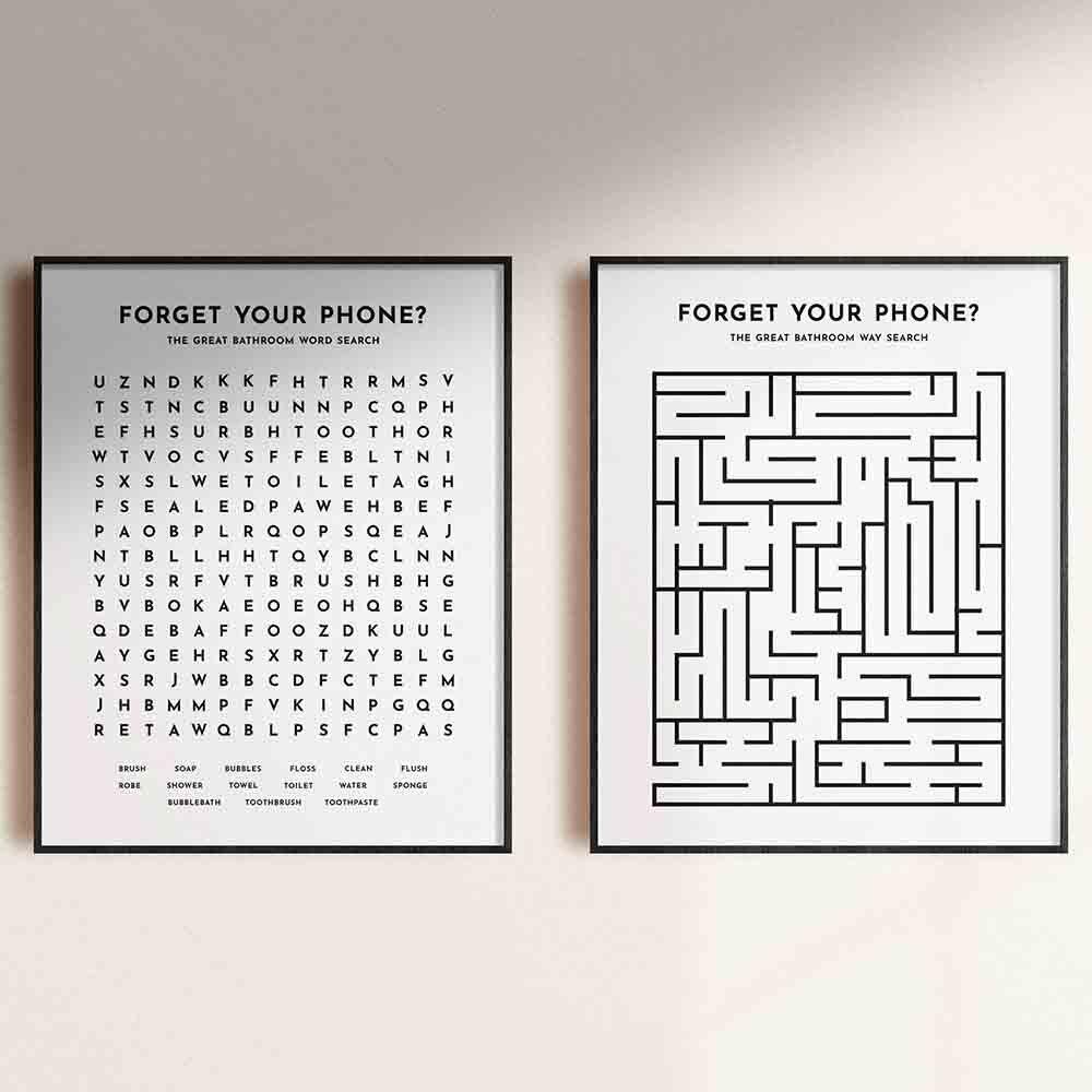 Черно-белая минималистская настенная картина, холст, плакат и печать, забудьте о вашем телефоне, фотография детской комнаты для спальни