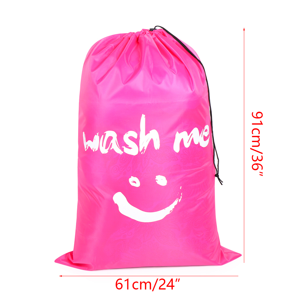 laundry bag for dirty laundry laundry collector with drawstring com-four/® 2x laundry bag for travel 69 x 50 cm 02 pieces - pink//green