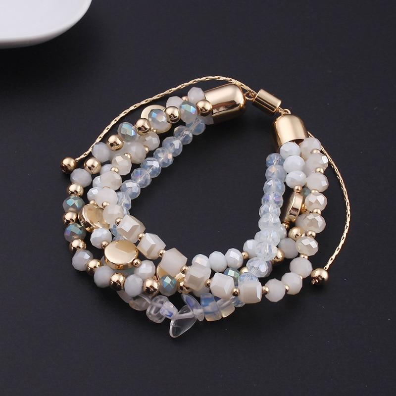 White glass stone bracelet