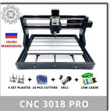 Cnc 3018 pro grbl mini máquina de cnc, gravação a laser de madeira com 3 eixos pcb roteador de madeira cnc3018 trabalho offline offline