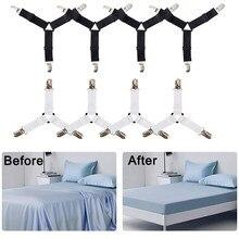 3 klipsy uchwyty do narożników łóżka prześcieradła łączniki pokrycie materaca klipsy wytrzymałe prześcieradła elastyczne paski regulowane