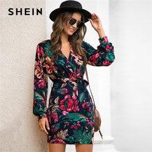 Женское Повседневное платье карандаш shein Осеннее разноцветное