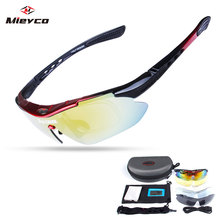 Cycling Sunglasses Eyewear 2019 Polarized 5 Lens Cycling Glasses Road Bike Cycling Eyewear MTB Mountain Bicycle Cycling Goggles cheap 7 5cm Polycarbonate Acetate 4 3CM Unisex Multi 1000 Black red White Black Black blue dropshipping wholesale Cycling glasses gafas ciclismo oculos ciclismo