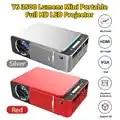T6 Full Hd Ha Condotto il Proiettore 4k 3500 Lumens HDMI USB 4K 3D 1080p 1920*1080 Portatile cinema Beamer Stesso Schermo del telefono Proiettore Gioco