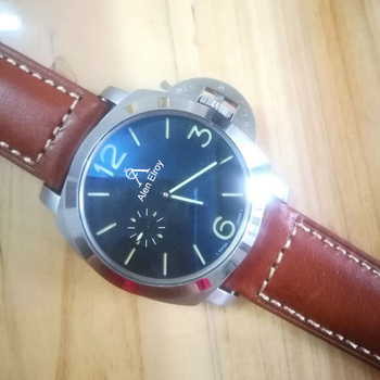Mens Mechanical luxury watch stainless steel case brown leather strap Top quality 1:1automatic self-winding  watches AAA+ luxury hollow out automatic self winding mechanical watch calendar stainless steel case mechanical watches business men clock