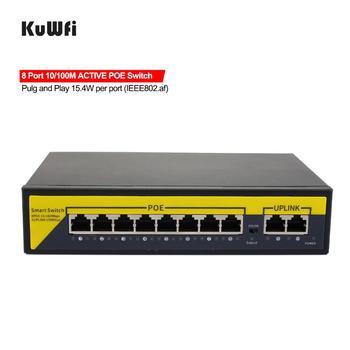 48V POE Switch 10/100/1000mbps Ethernet Switch 8Port Gigabit Switcher RJ45 Hub 8Port POE + 2Port Uplink Distance 50-100M 1
