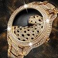 MissFox модные часы мужские водонепроницаемые кварцевые наручные часы из нержавеющей стали топ бренд алмаз тушь для ресниц в леопардовой упак...