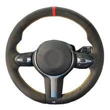 En Daim noir BRICOLAGE Couverture De Volant de Voiture pour BMW (M Sport) 1 Série F20 F21 M135i M140i M235i M240i X1 F48 X2 F39 X3 F25