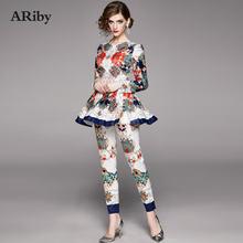 Женский комплект из двух предметов ariby Модный с длинным рукавом