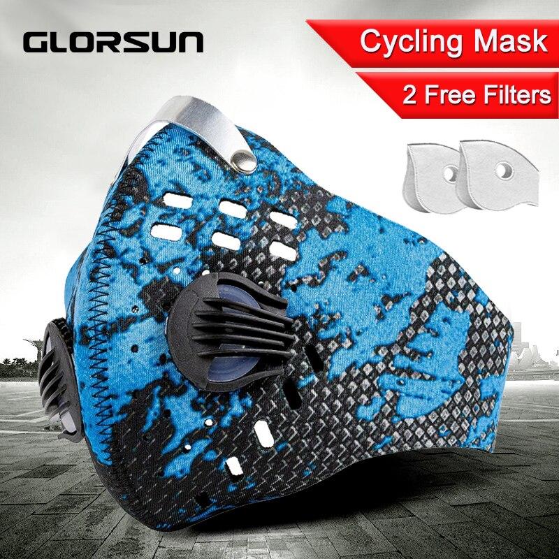 GLORSUN Pollution Mask Custom Neoprene  Anti Pm2.5 Motorcycle Bike Cycling  Airfilter Wholesale Anti Odor Smog Pollen Mask