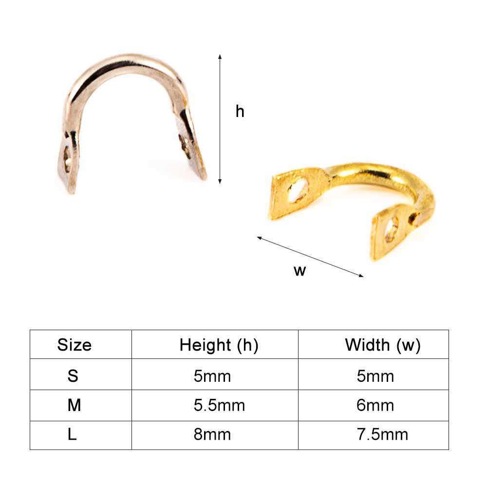 50 قطعة سهلة الدوران Clevises سبينر الفولاذ المقاوم للصدأ لتقوم بها بنفسك سبينر الصيد السحر اكسسوارات الصيد