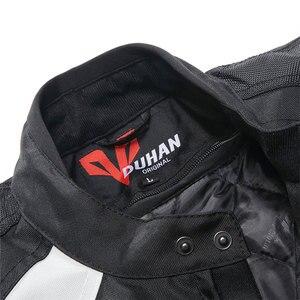 Image 4 - אופנוע גברים מוטוקרוס חליפות Jacket & מכנסיים Moto מעיל ציוד מגן שריון אופנוע בגדי רכיבה מעילים