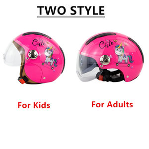 Image 2 - Kids Motorhelm Enfant Scooter Helmen Chopper Leuke Cascos Kinderen Fiets Casco Moto Gepersonaliseerde Capacete Voor Jongens Meisjes