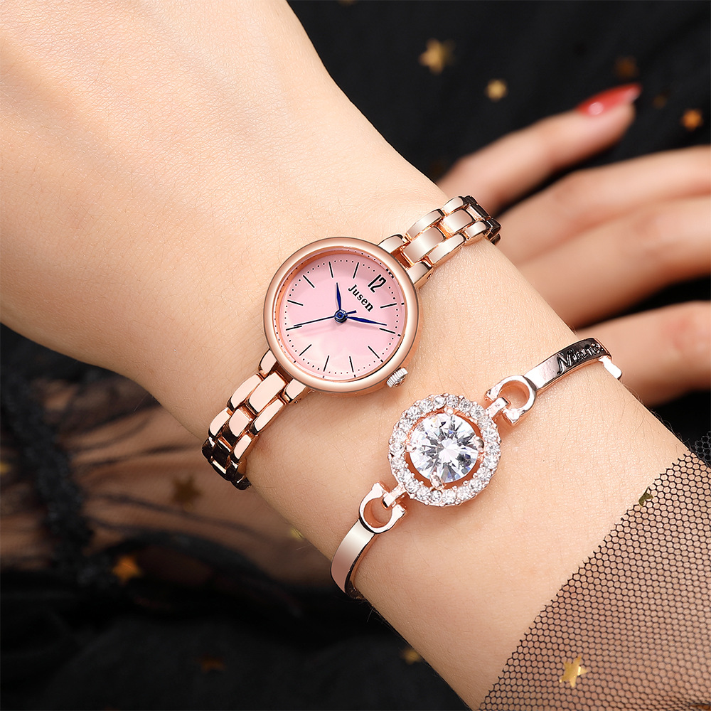 Luxury Women Fashion Small Bracelet Watches Rose Gold Stainless Steel Qualities Ladies Quartz Wristwatches Simple Woman Clock