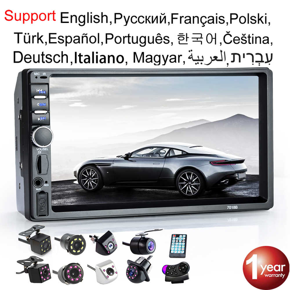 "Autoradio 2 Din Hd 7 ""Autoradio Multimedia Speler 2DIN Touch Screen Auto Audio Auto Stereo MP5 Bluetooth Usb tf Fm Camera"